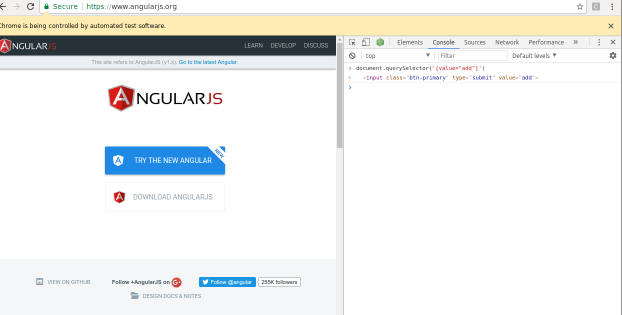 Protractor - end-to-end testing for AngularJS